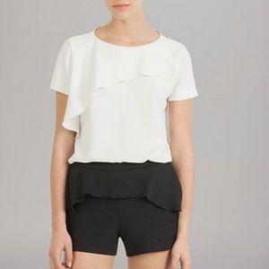 Maje Ruffle Trim Shorts